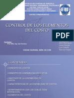 Control Elementos Del Costo