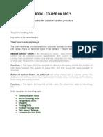 Practical Handbook BPO Training Manual 2008