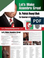 """Let's Make Anambra Great"" - Dr. Patrick Ifeanyi Ubah"