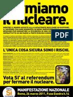 volantino di Greenpeace contro nucleare