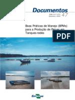 187 Manual Embrapa Boas Praticas Para Criacao de Peixes Em Tanque Rede
