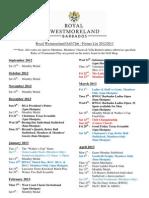 RWM Fixture List 2012 2013