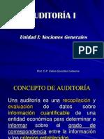 Unidad I Nociones Generales de Auditoría
