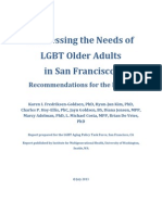 Addressing the Needs of LGBT Older Adults in San Francisco - Recommendations for the Future (July 2013)