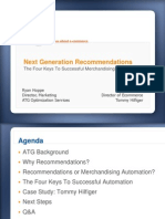Next Generation Merchandise Recommendation Slides 2009