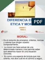 1. 2 Diferencia Entre Etica y Moral