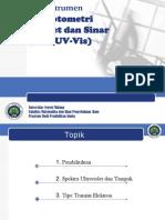 Analisis Instrumen UV-Vis
