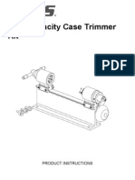High Capacity Case Trimmer Kit Instructions