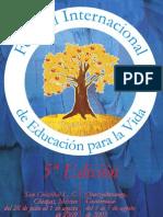 Cartel del 5 Festival Internacional de Educación para la Vida 2009