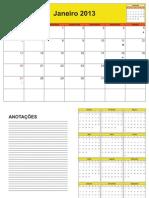 Calendário de Planejamento 2013