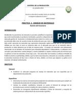 PRACTICA  3.   MANEJO DE MATERIALES (Gestión de Inventarios)