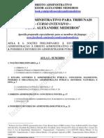 Dir Adm-Aula I-Alexandre Medeiros-tribunais 2013