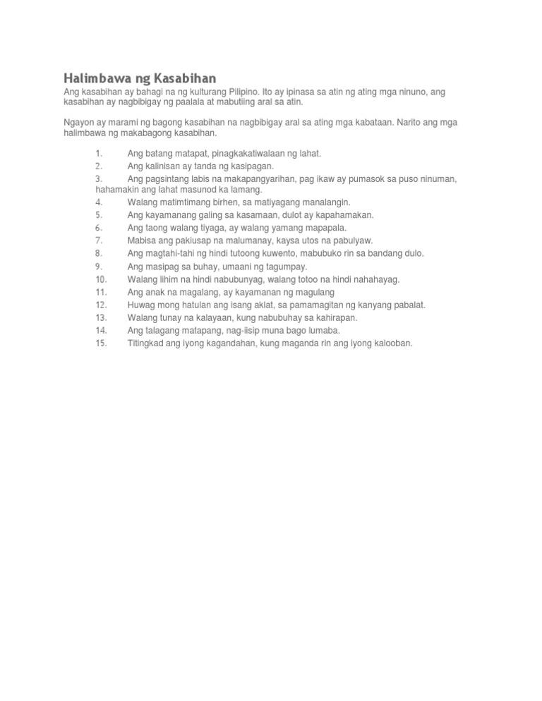 mr. homework mga halimbawa ng pabula
