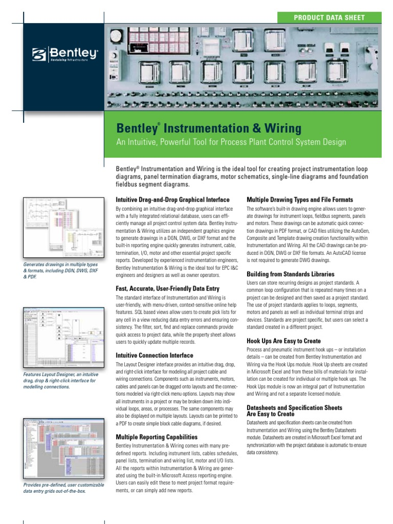 Bentley Instrumentation and Wiring Product Data Sheet | Microsoft Access | Microsoft Excel  sc 1 st  Scribd : instrumentation wiring - yogabreezes.com