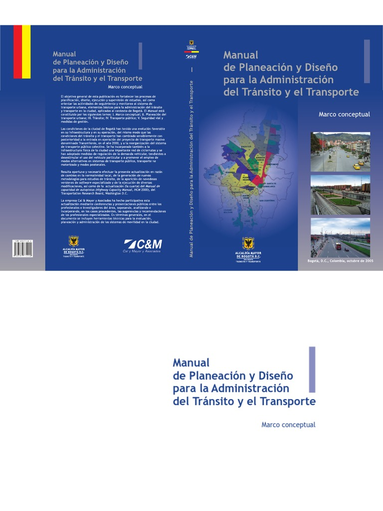 Manual de planeación y diseño para la administración del tránsito y ...