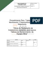 PROCEDIMIENTO PARA TRABAJOS DE MOVILIZACIÓN Y DE