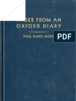 Paul Elmer More - Pages From an Oxford Diary (1937)