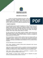 Edital Em PDF - Concurso Cultura 2014