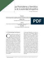 Cadenas - Antropologia Posmoderna y Semiotica