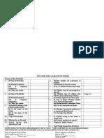 Income DeclaraINCOME_DECLARATION_FORM.doction Form