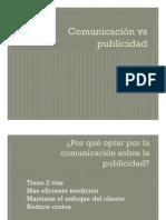 Comunicación Vs Publicidad