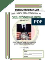 Modulo 3 Control Contable Financiero en Las Sociedades Mercantiles