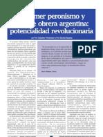 Artículo - El primer peronismo y la clase obrera argentina - Viapiana; Friedemann