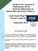 APSE_Anteproyecto de Ley para el Ordenamiento de las Retribuciones Adicionales al Salario Base del Sector Público