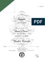 Carcassi, M._ Op. 57. Fantasie ... Sur Les Motifs de Cheval de Bronze, Das Eherne Pferd, De D.F.E. Auber ...