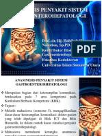 Anamnesis Penyakit Sistem Gastroenterohepatologi