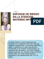 Enfoque de Riesgo en la Atención Materno Infantil