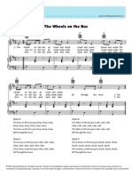 The Wheels on the Bus Sheetmusic