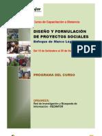 DISEÑO Y FORMULACIÓNDE PROYECTOS SOCIALES