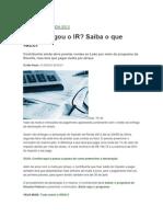 IRPF-2012 - ENTREGA DA DECLARAÇÃO FORA DE PRAZO