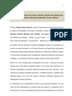Los Portadores de Texto en La Cultura Tutunaku, Veracruz. ESC. JUAN SARABIA