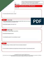 Considerations Worksheet