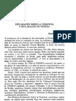 DECLARACION SOBRE LA VIOLENCIA Y DECLARACIÓN DE VENECIA