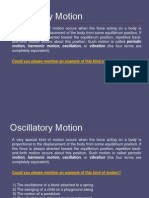 Oscillatory Motion 1
