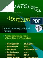 Neonatal Hematology