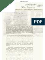Nicolás Guillén - Obra literaria
