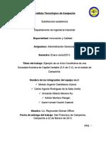 FORMATO DE UN ACTA CONSTITUTIVA DE SOCIEDAD ANÓNIMA