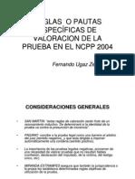 Reglas_pautas Valoracion de La Prueba