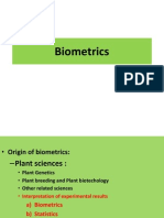 Plant Breeding and Biometrics