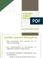 2. EQUILIBRIO QUÍMICO HETEROGÉNEO