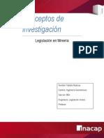 Informe Conceptos de legislación minera