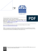 Comparing Public and Private Organizations