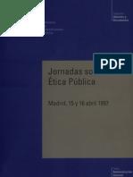 JORNADAS SOBRE LA ÉTICA PÚBLICA