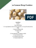 Gluten-Free Lemon Drop Cookies