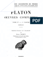 Platon Oeuvre Phedon