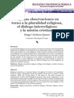 Cordova Quero 2013 Pluralidad Mision Integral Dialogo Interreligioso